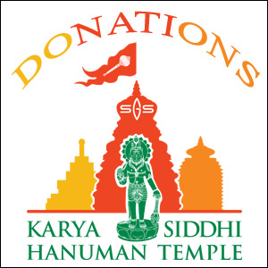 Devotees can donate any amount towards the General Donations. They can make a payment through online, check or at temple registration desk
